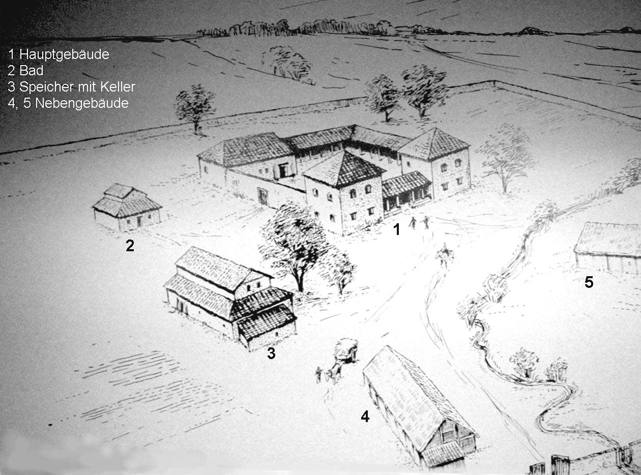Römerzeit Villa Lindach